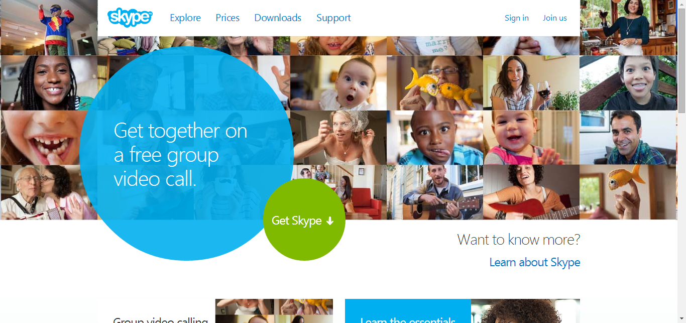 call to action - skype