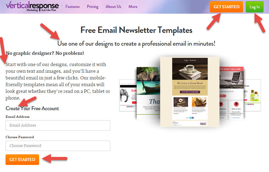 5 landing page tips landing page critique round 3 for Vertical response templates