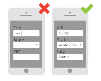 Localization on mobile pages