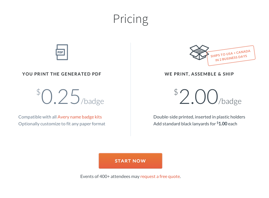 pricing page examples
