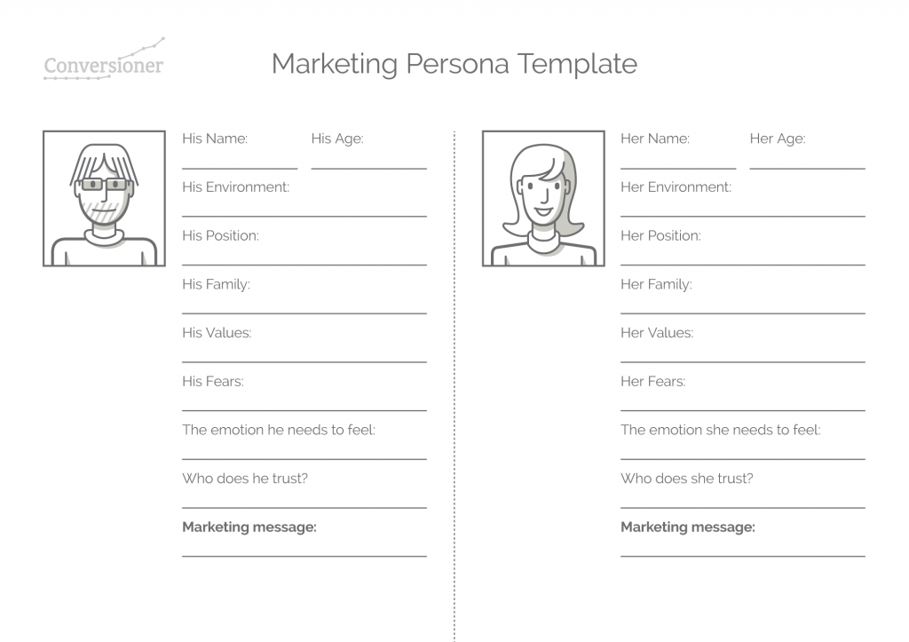 Marketing persona template