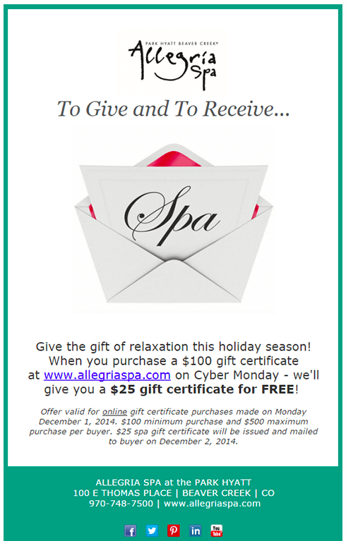 Allegria Spa Email