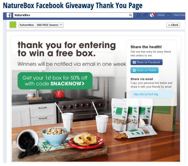 Naturebox Thankyou Page