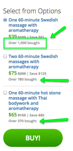 Groupon Social Proof