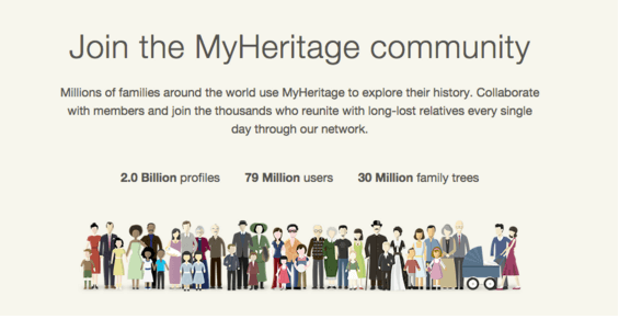 MyHeritage Social Proof