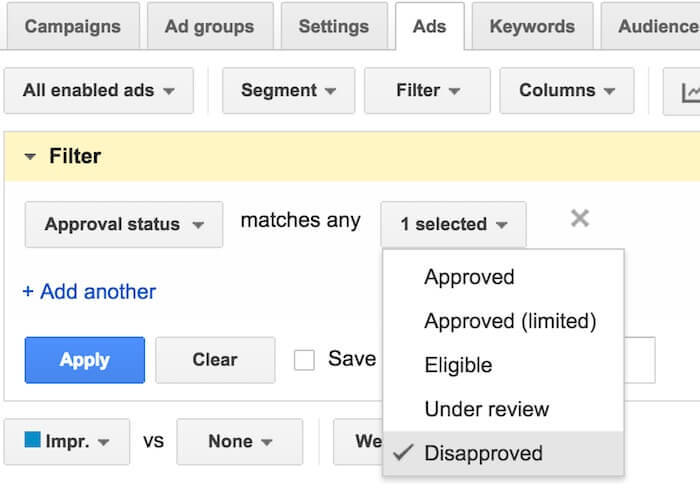 adwords-disapproved-ads