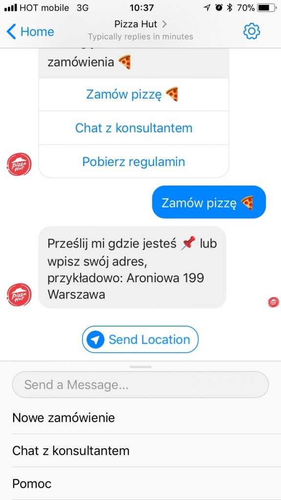 pizza hut bot